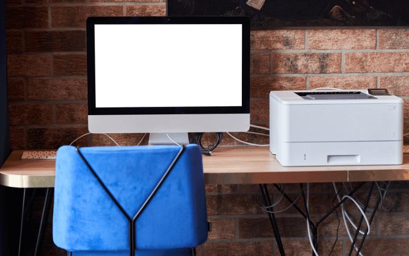 Mobilne biuro, mobilna drukarka.